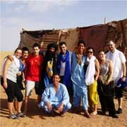 Group photo on a Morocco tour